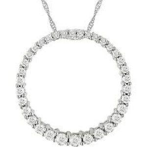 1/2 Carat T.W Diamond Circle Of Life Necklace